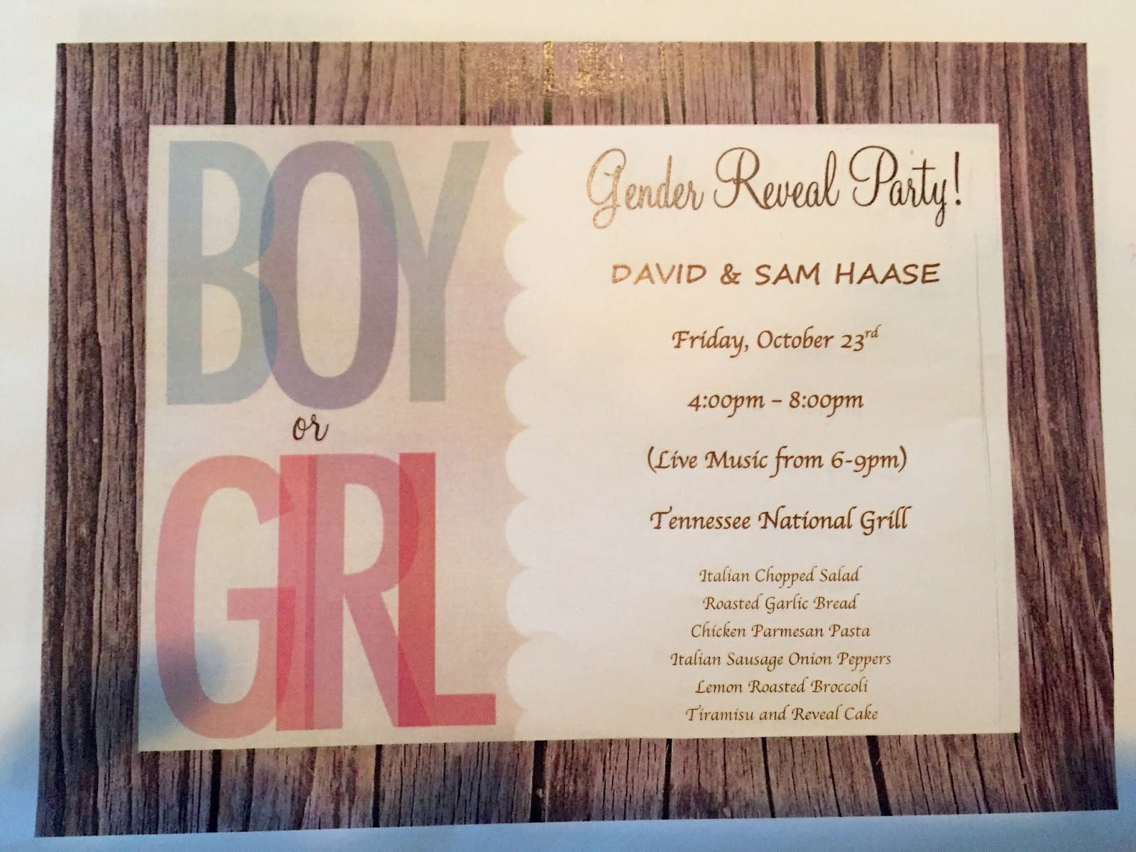Mommy Peaches: Invitation to Gender Reveal Party for Baby Haase #2