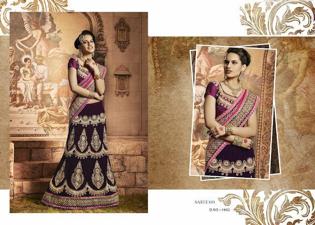 New Arrival Lengha Saree,Heavy Embroidery Lengha Saree