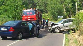 Accidente en la carretera de Candelario