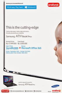 Samsung ATIV Book 9 Plus Cash Back Rp 1.5 Juta