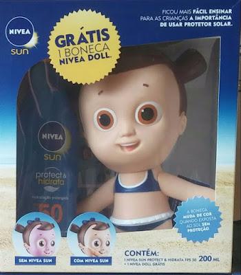 kit Nivea doll boneca Tudo Sobre Tudo