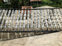 Aquecedor solar de água da casa ecológica