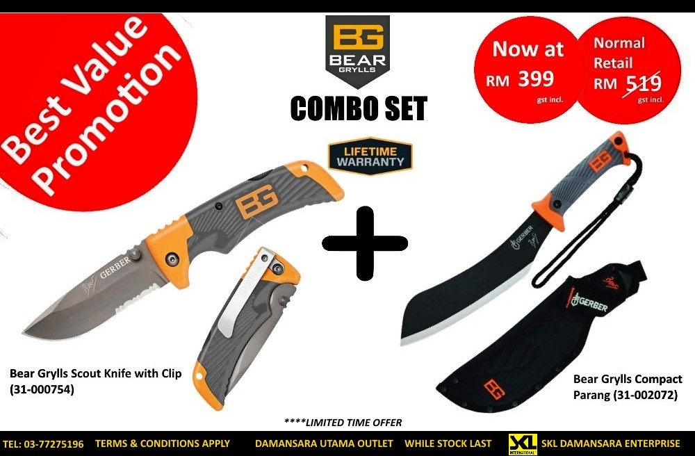 Super Value Promotion!!!Gerber Bear Grylls Combo Set on Sales