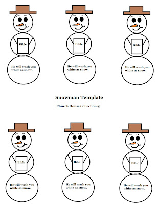Snowman Cut Out Template