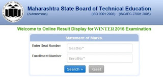 MSBTE Winter Result 2015