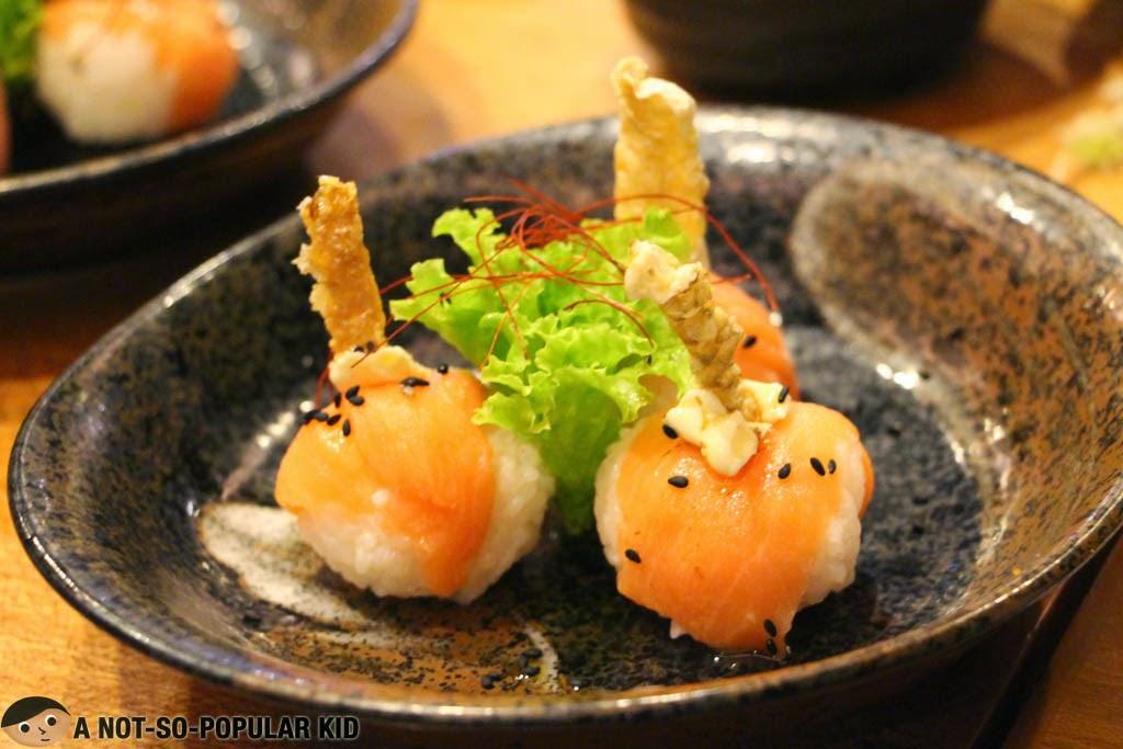 Salmon Sushi Balls of Yumi Japanese Restaurant