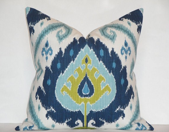 My Inspiration For The Room Began With This Ikat Pillow! Part 60