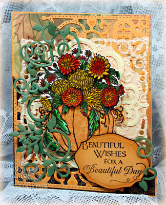 Stamps - Our Daily Bread Designs ODBD Custom Pumpkin and Flowers Die, ODBD Custom Fancy Foliage Dies, ODBD Custom Decorative Corners Dies, ODBD Elegant Oval Die,Fall Flower Pumpkin,Sentiments Collection 2