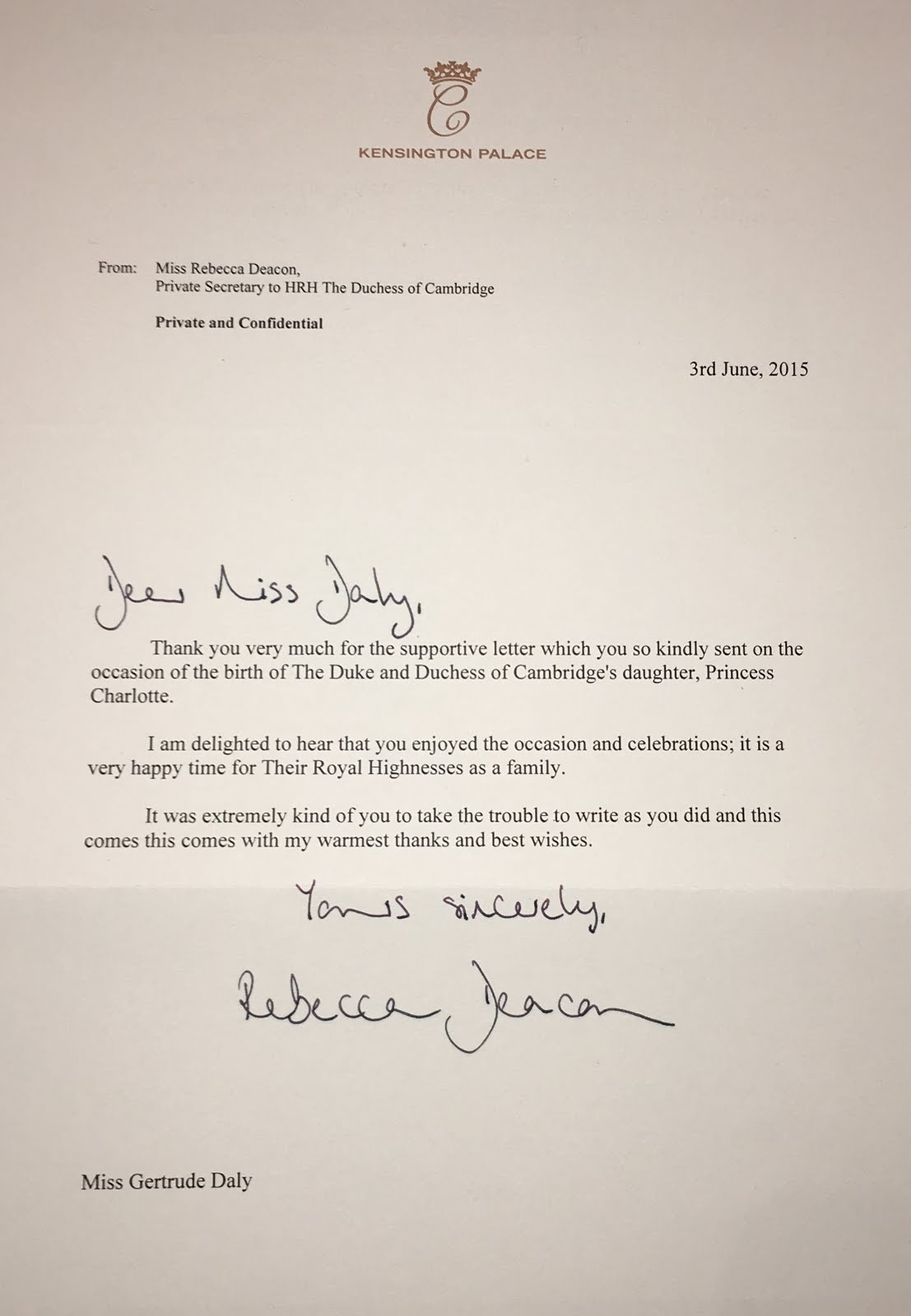Gerts royals how to format your letter rebecca deacon has her name printed at the top of the letter so people know who it is from she also has her title which is important because if you wrote stopboris Gallery