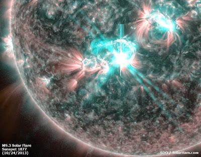 LLAMARADA SOLAR CLASE M9.3, EL 24 DE OCTUBRE 2013