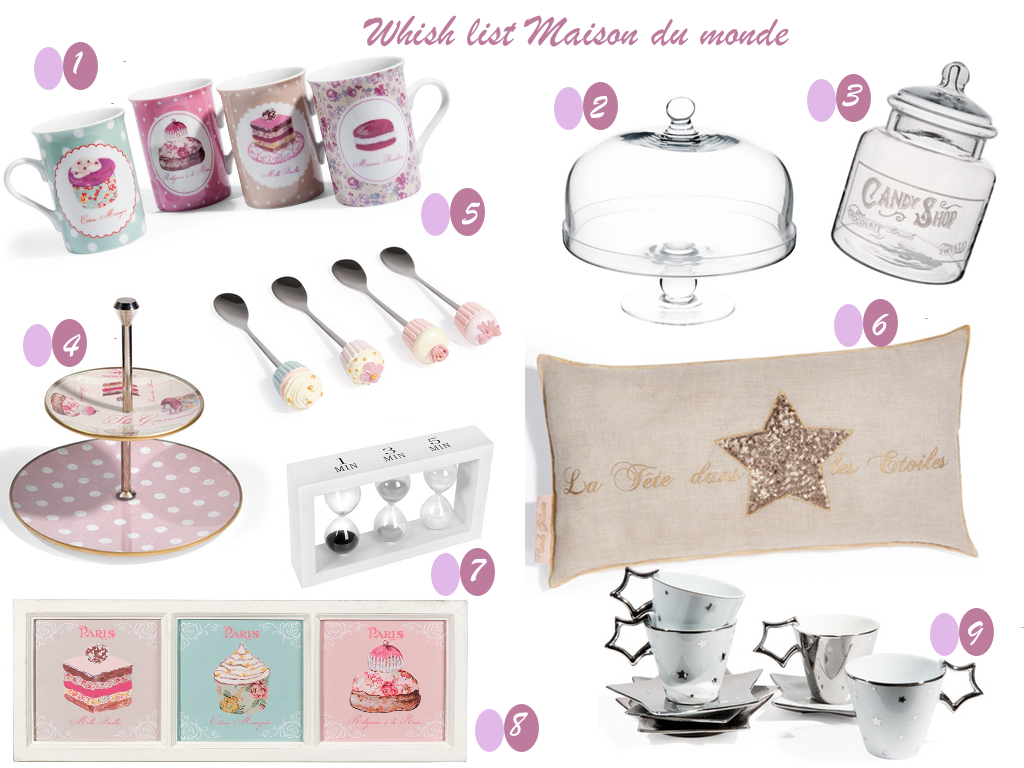 Ma wish list maison du monde journal d 39 une infirmi re - Bonbonniere maison du monde ...