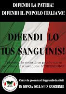 DIFESA DELLO IUS SANGUINIS