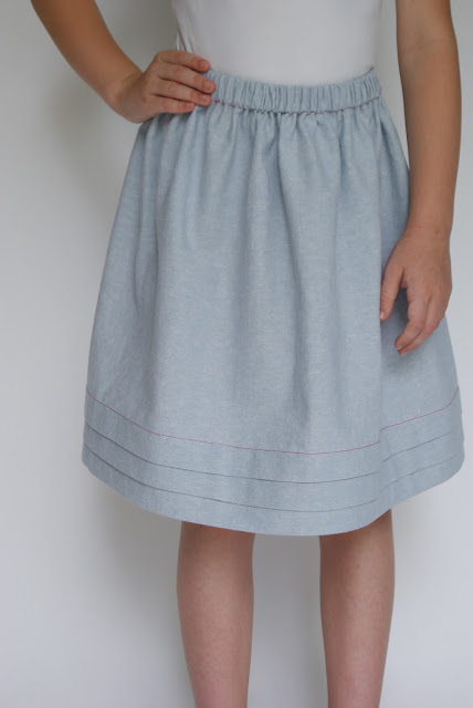 Oliver + S Lazy Days Skirt with hem tucks