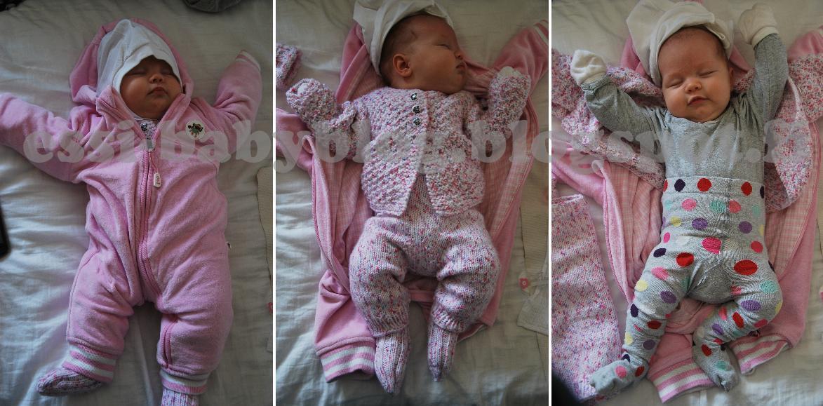 Vauvan vaatetus vaunuissa