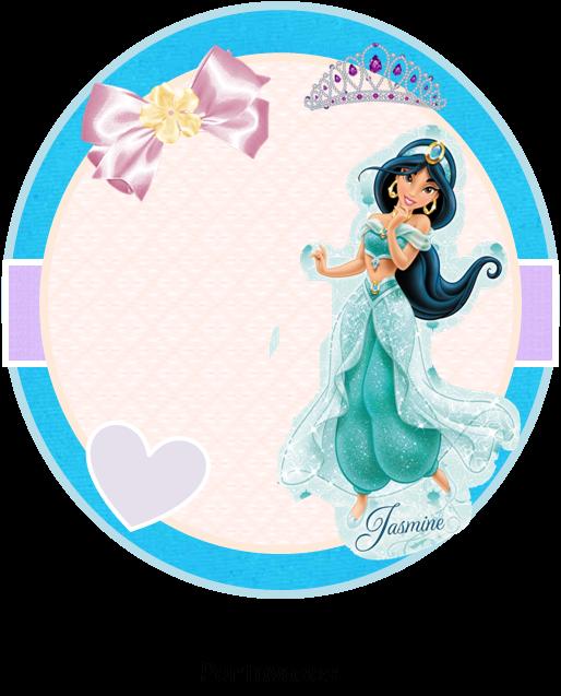 Toppers, stickers o etiquetas para Imprimir Gratis de Jasmine.