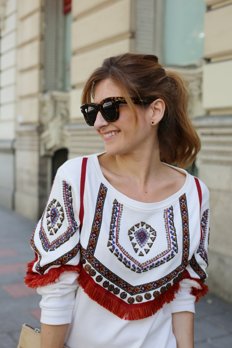 Ethnic sweater