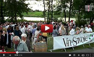 """Les 40 ans de l'appellation """"Vins de Savoie"""" au Lac St André, Les Marches."""