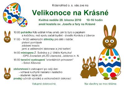 Velikonoce na Krásné 2010 - plakát