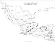 mapa de mapa en blanco negro de mã©xico