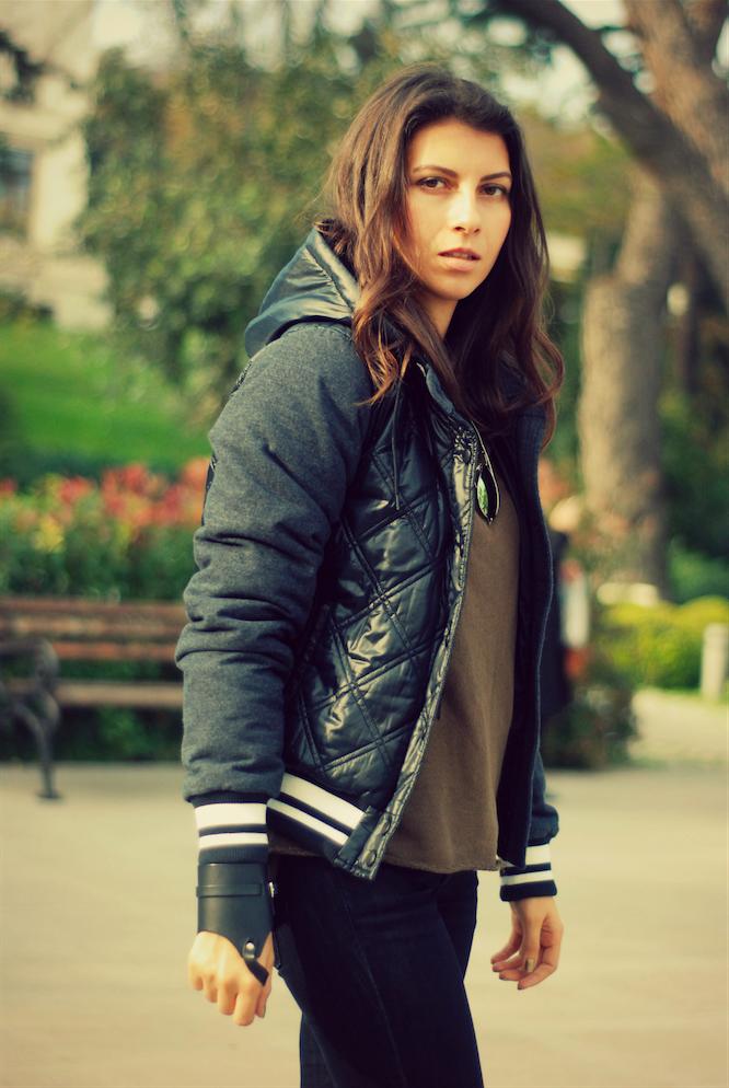 bomber jacket,trendydolap,kombin,blogger kombini,kışlık montlar,siyah mont