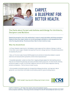 Carpet, Asthma & Allergy for Architects, Designers, Builders - CRI Fact Sheet