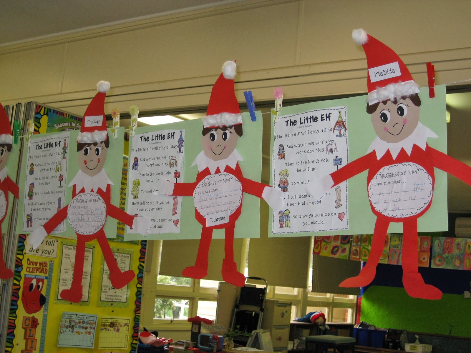 Classroom Elf Ideas ~ Classroom fun elf on the shelf