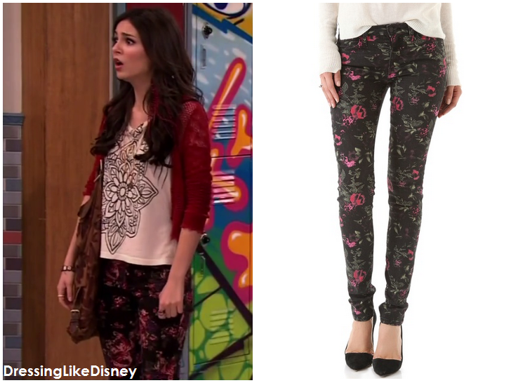 Victoria Justice: Joe's Jeans The Skinny Electric Floral Jeans