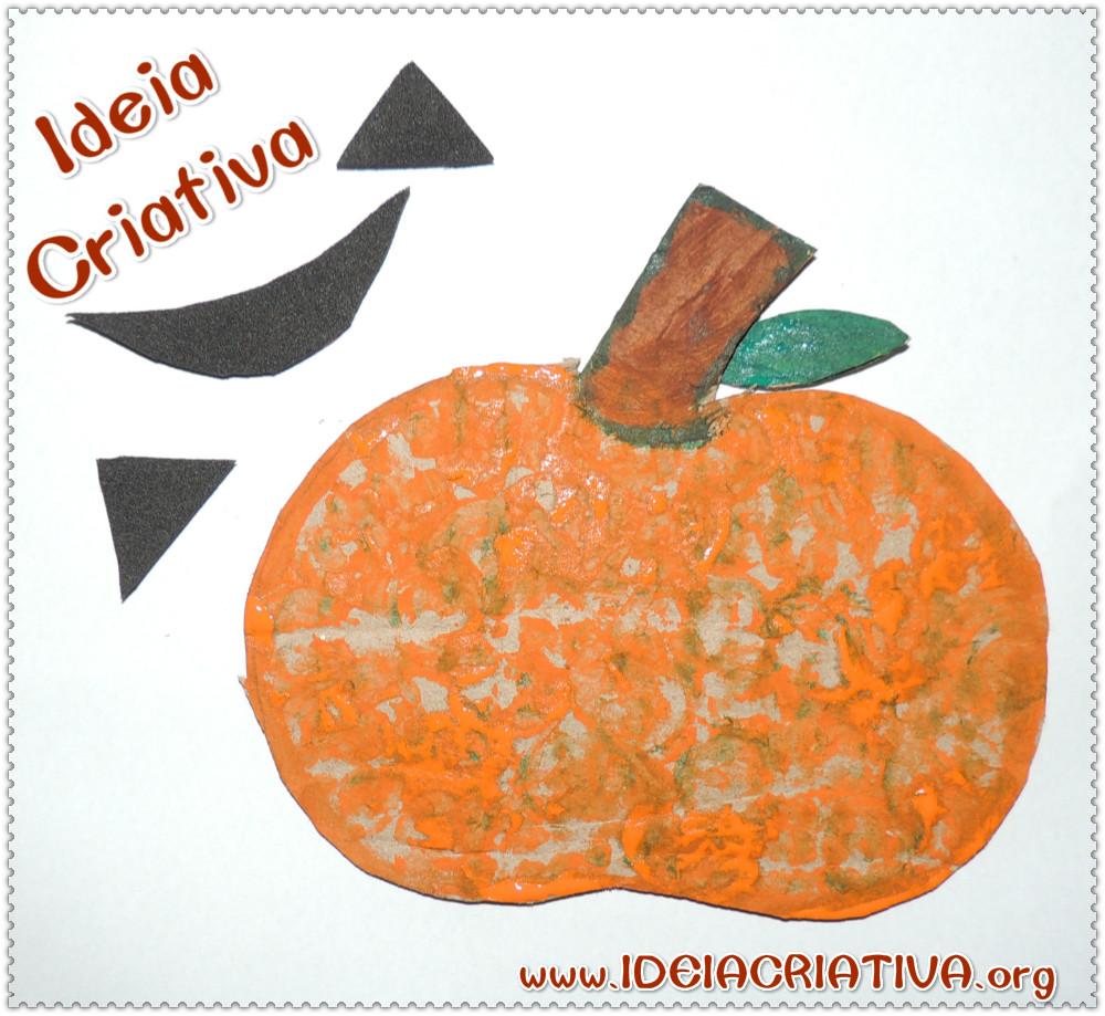 Atividade Halloween Abóbora de Papelão Educação Infantil