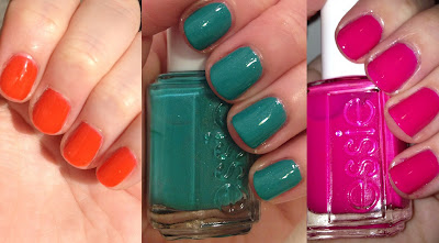 Essie, Essie nail polish, Essie Summer 2013 collection, Essie Summer 2013 Neons collection, Essie Bottle Service, Essie Naughty Nautical, Essie Saturday Disco Fever, nail, nails, nail polish, polish, lacquer, nail lacquer, swatches, nail polish swatches
