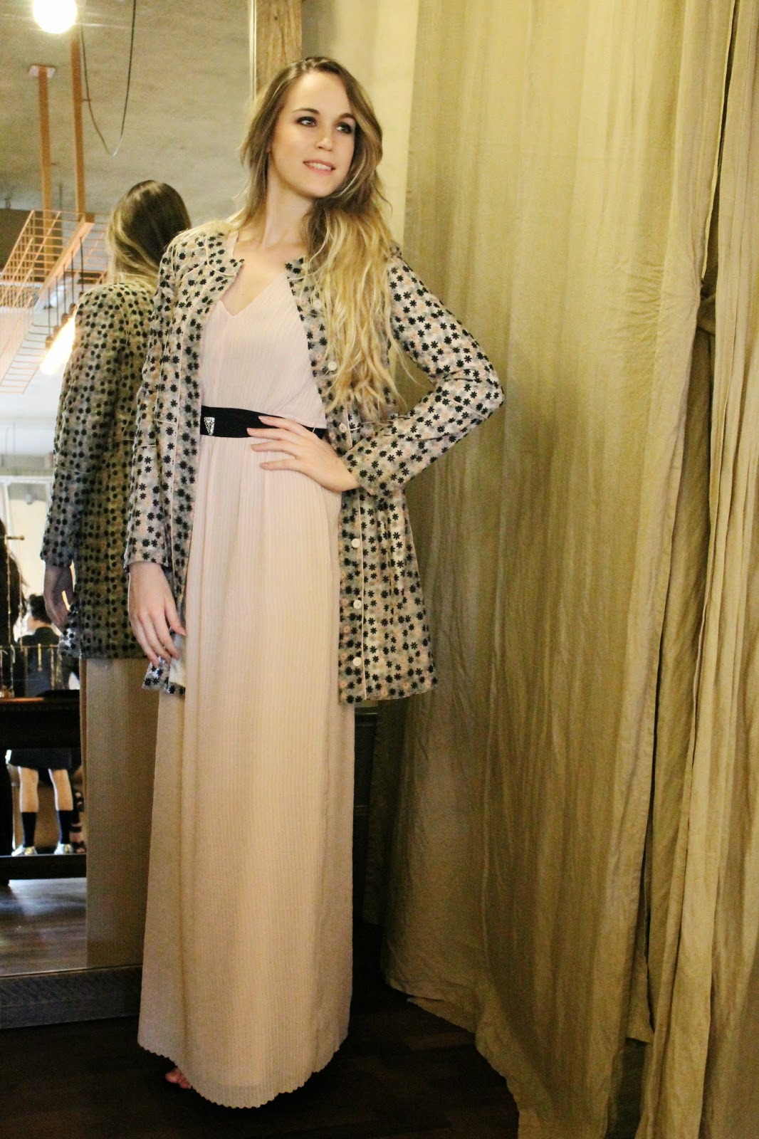 long plisse dress