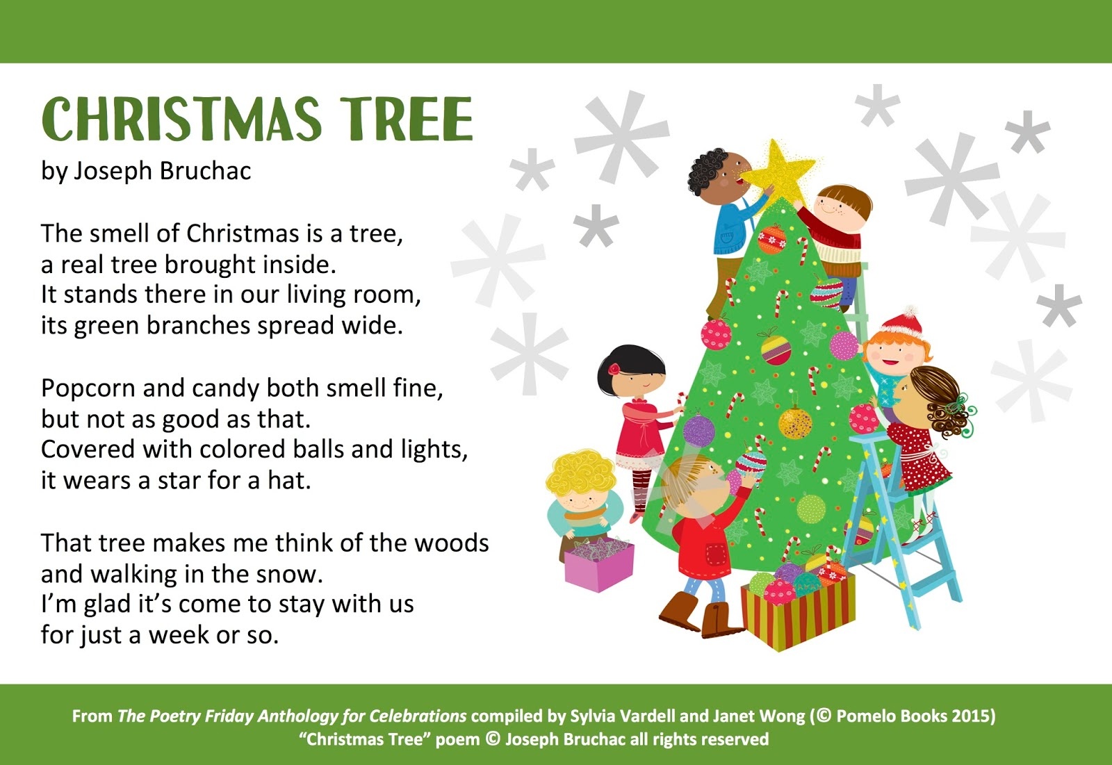 youd like to use the take 5 activities from the book that accompany this poem here you go 1 if possible set the stage with the smell of a christmas - Christmas Images For Children