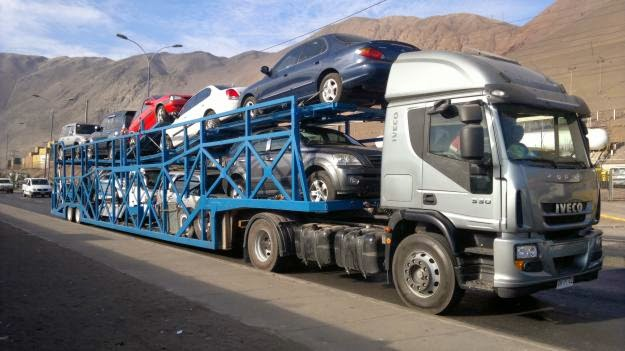 El transporte de vehículos