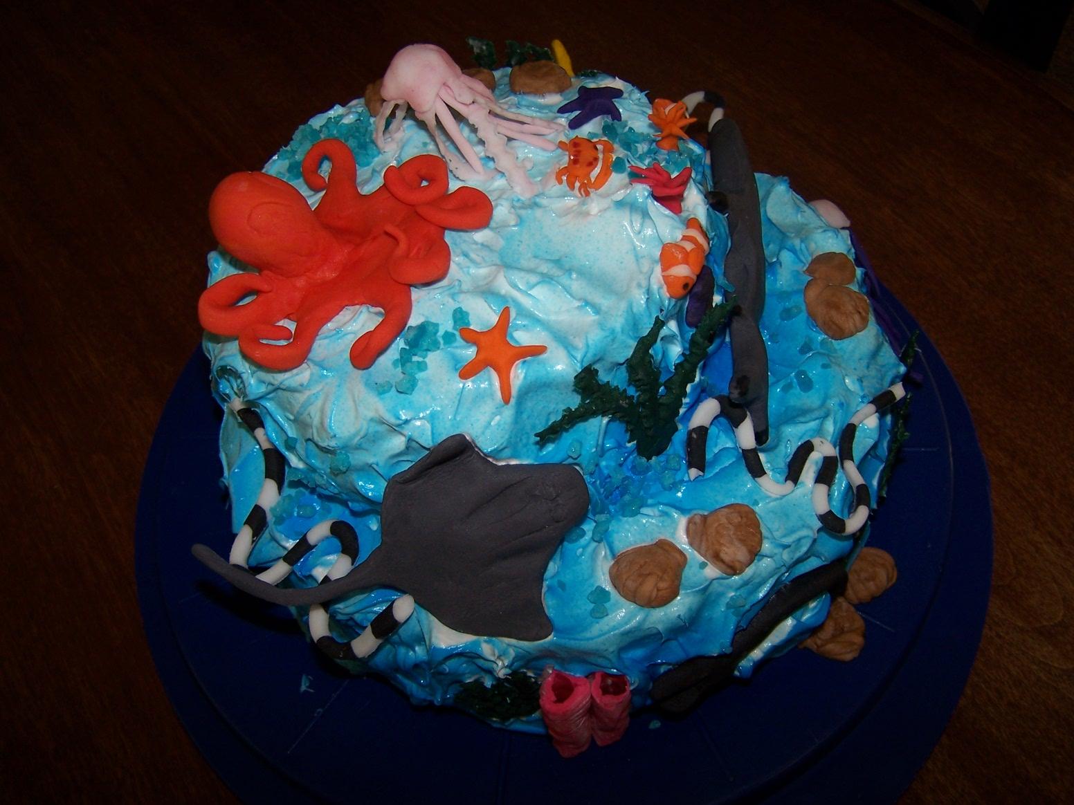 Sea Animal Birthday Cake Image Inspiration of Cake and Birthday