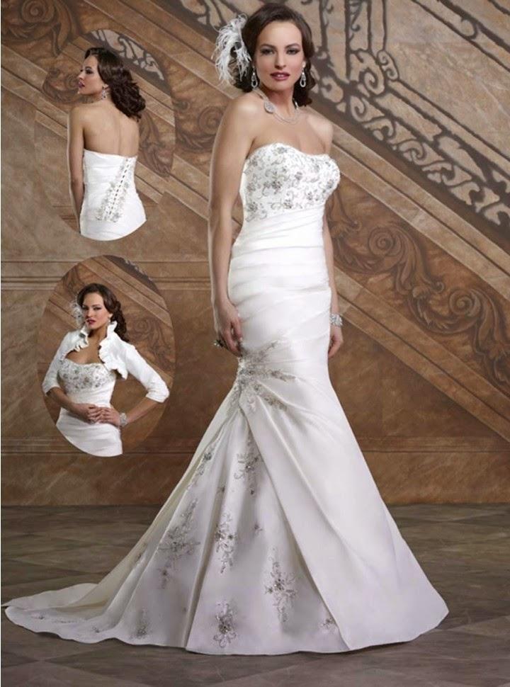 Vestido de Novia Sirena, Drapeado con Apliques Bordados Artesanales