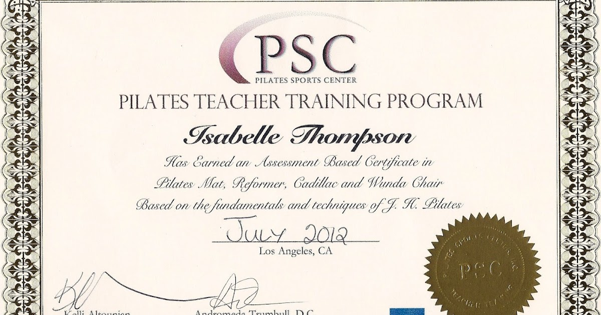pilatestransformer: Pilates Teacher Training Program Certificate