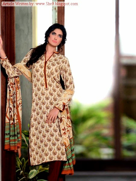Gul Ahmed Winter Karandi Dress Collection 2014