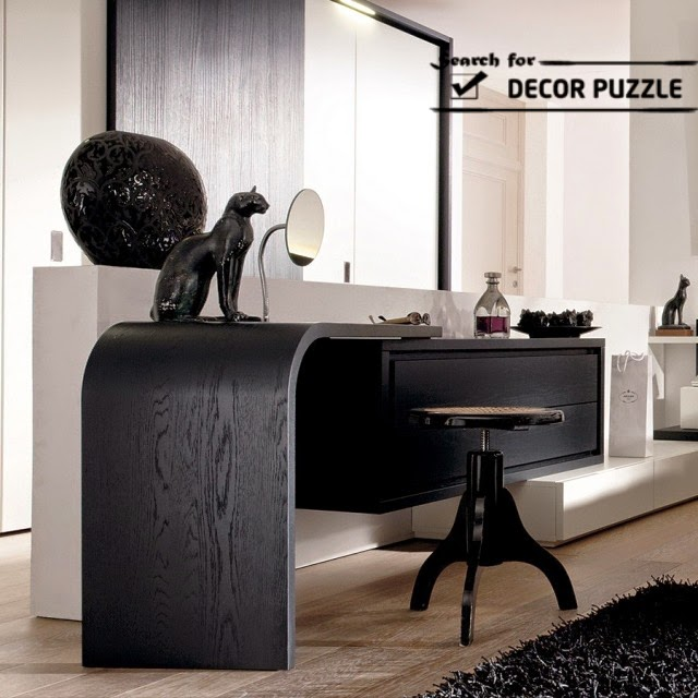 black modern dressing table designs for bedroom 2015