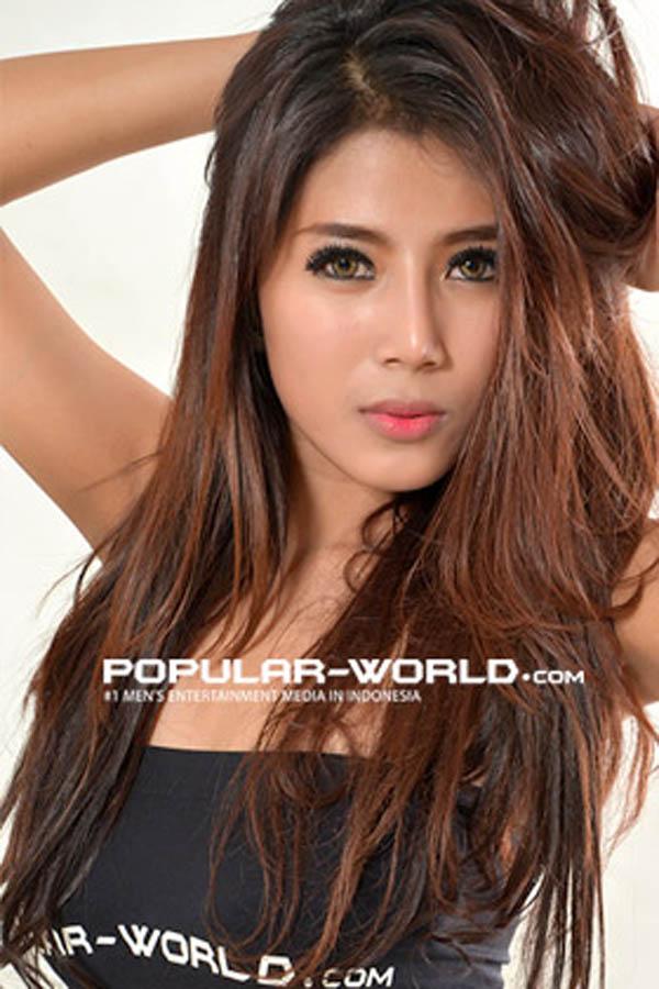 hot Destiara Talita for Popular World BFN, March 2013