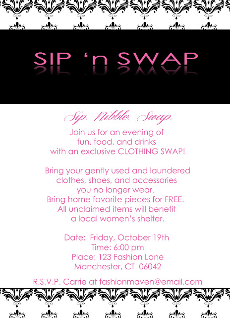 swap party invite