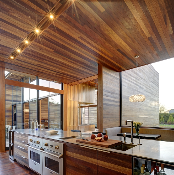 Green Kitchen Nyc: World Of Architecture: Modern Wood House By Bates Masi