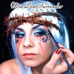 sangre falsa para el maquillaje de vampira de victoria frances