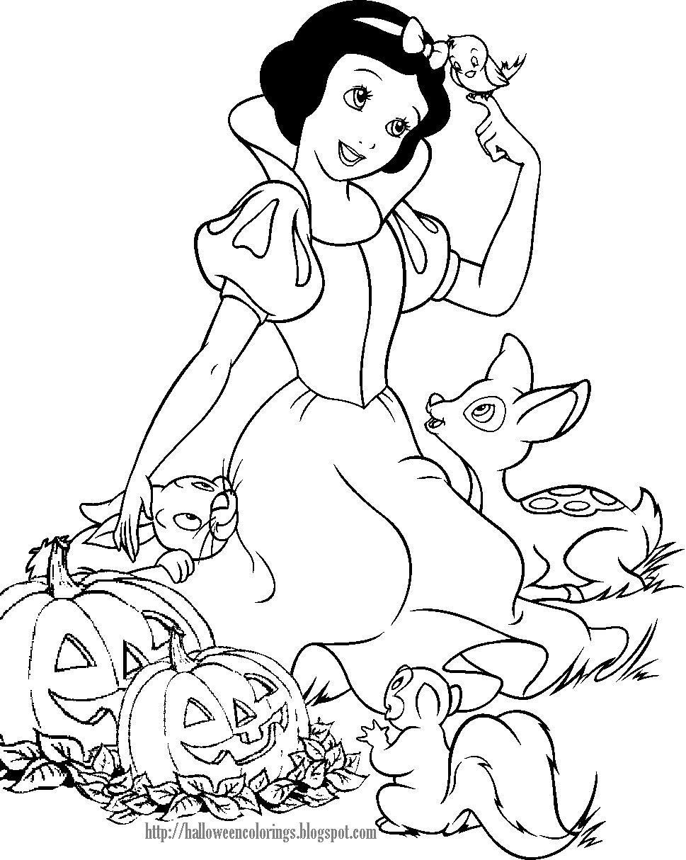 HALLOWEEN SNOW WHITE PRINT AND