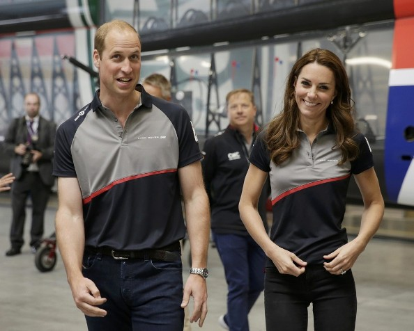 prince william in white asics trainers