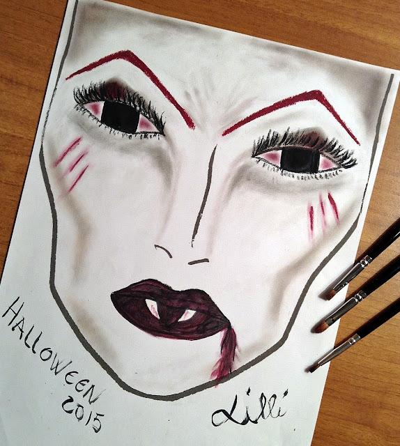 Halloween Face Chart