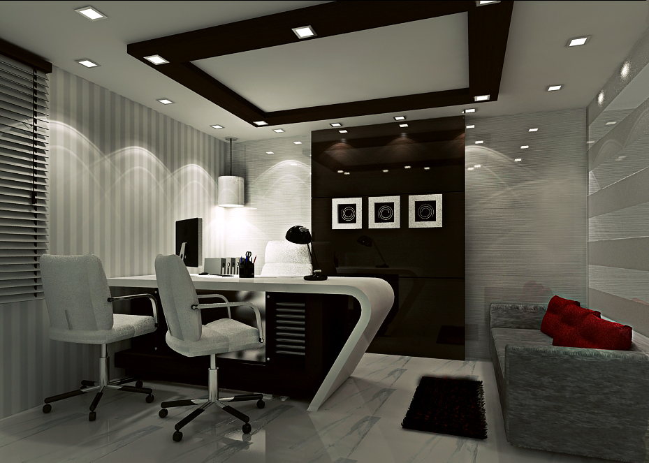 3d interior visualization concept 3d interior for Interior office design ideas photos layout