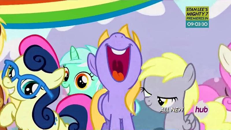 Filly Bon Bon, Lyra and Derpy!
