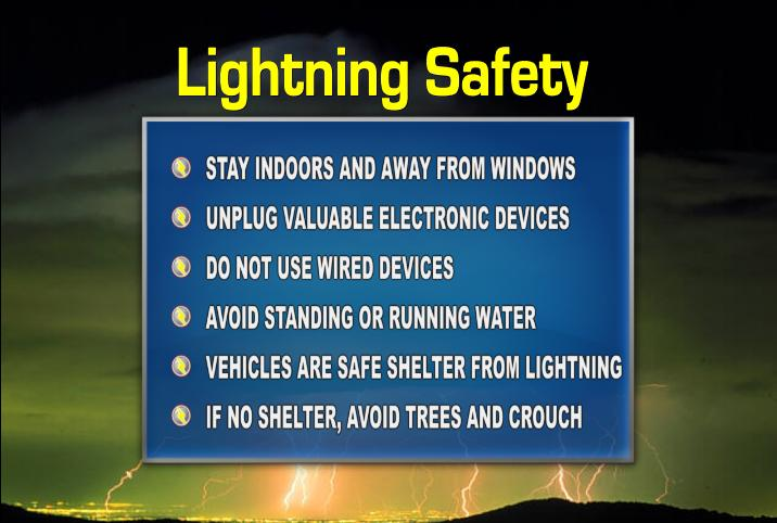 Safety tips about lightning