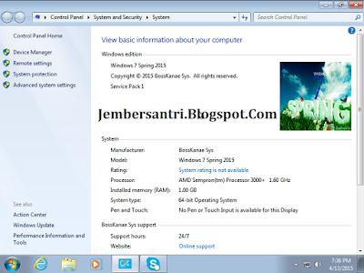 Windows 7 Spring x64 / 64bit 2015 Full Plus Activation