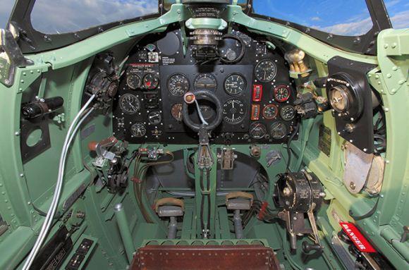 Kokpit Supermarine Spitfire