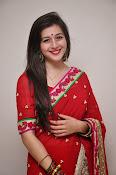 Priyal Gor Dazzling in Red Saree-thumbnail-3